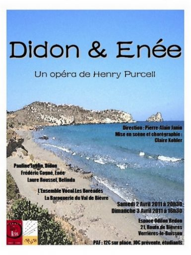 DIDO and AENEAS, Opera en 3 actes de Henry Purcell